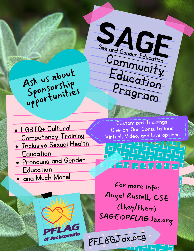 SAGE: Sex and Gender Education from PFLAG of Jacksonville